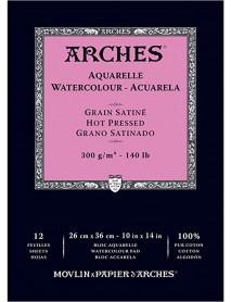 ΜΠΛΟΚ ΑΚΟΥΑΡΕΛΑΣ ARCHES HOT PRES. PAD 300gr 26x36cm 12φ