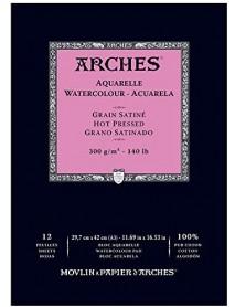 ΜΠΛΟΚ ΑΚΟΥΑΡΕΛΑΣ ARCHES HOT PRES. PAD 300gr 29.7x42cm 12φ