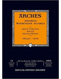 ΜΠΛΟΚ ΑΚΟΥΑΡΕΛΑΣ ARCHES ROUGH PAD 300gr 29.7x42cm 12Φ