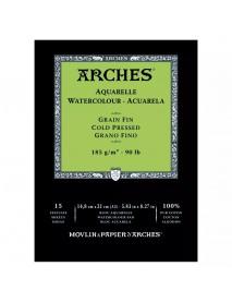 ΜΠΛΟΚ ΑΚΟΥΑΡΕΛΑΣ ARCHES COLD PRES. PAD 185gr 14.8x21cm 15Φ