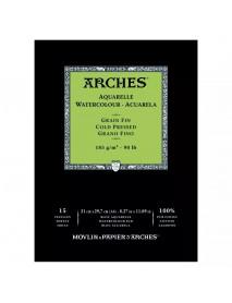 ΜΠΛΟΚ ΑΚΟΥΑΡΕΛΑΣ ARCHES COLD PRES. PAD 185gr 21x29.7cm 15Φ
