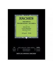ΜΠΛΟΚ ΑΚΟΥΑΡΕΛΑΣ ARCHES COLD PRES. PAD 185gr 29.7x42 15Φ