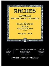 ΜΠΛΟΚ ΑΚΟΥΑΡΕΛΑΣ ARCHES ROUGH PAD 185gr 14.8x21cm 15Φ