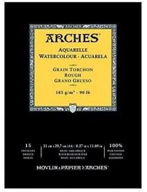 ΜΠΛΟΚ ΑΚΟΥΑΡΕΛΑΣ ARCHES ROUGH PAD 185gr 21x29.7cm 15Φ