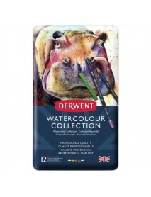 Derwent Μεταλλική Κασετίνα Watercolour Collection 12 τεμαχίων