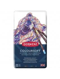 Derwent Μεταλλική Κασετίνα Με 12 Μολύβια Coloursoft