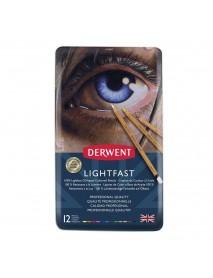 Derwent Μεταλλική Κασετίνα Με 12 Μολύβια Lightfast