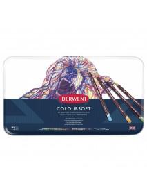 Derwent Μεταλλική Κασετίνα Με 72 Μολύβια Coloursoft