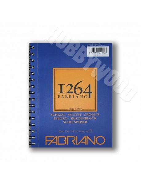 ΜΠΛΟΚ FABRIANO 1264 SKETCH SPIRAL LANDSCAPE 90gr A5 60Φ
