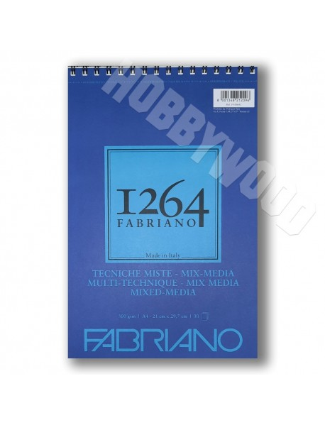 ΜΠΛΟΚ FABRIANO 1264 MIXED MEDIA SPIRAL PORTRAIT 300gr A4 30Φ