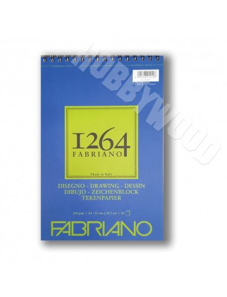 ΜΠΛΟΚ FABRIANO 1264 DISEGNO SPIRAL PORTRAIT 180gr A4 50Φ