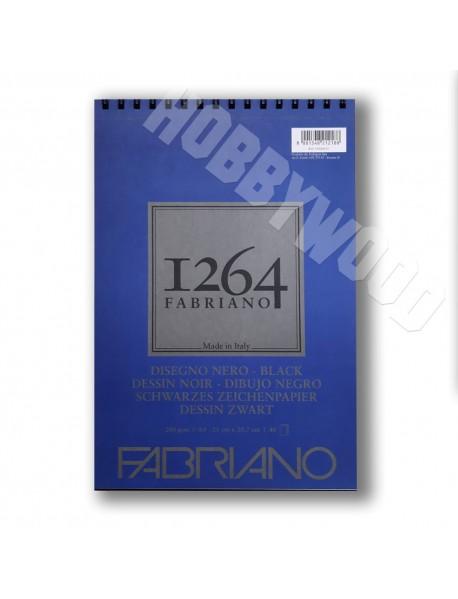 ΜΠΛΟΚ FABRIANO 1264 DISEGNO ΜΑΥΡΟ SPIRAL PORTRAIT 200gr A4 40Φ