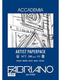 FABRIANO ACCADEMIA PAPERPACK 200GR A3 50Φ