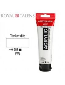 ΑΚΡΥΛΙΚΟ AMSTERDAM 120ML TITANIUM WHITE 105