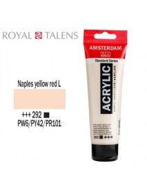 ΑΚΡΥΛΙΚΟ AMSTERDAM 120ML NAPLES YELLOW RED LT. 292