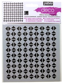STENCIL DECO 15X15 TRIANGLES