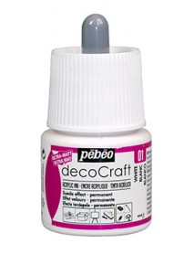 ACRYLIC INK DECOCRAFT 45ML WHITE