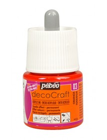 ACRYLIC INK DECOCRAFT 45ML ORANGE