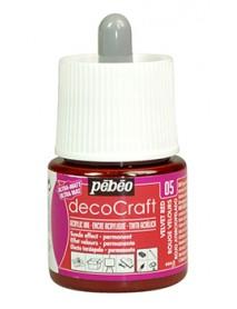 ACRYLIC INK DECOCRAFT 45ML VELVET RED