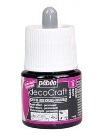 ACRYLIC INK DECOCRAFT 45ML BLACK