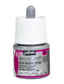 ACRYLIC INK DECOCRAFT 45ML SILVER