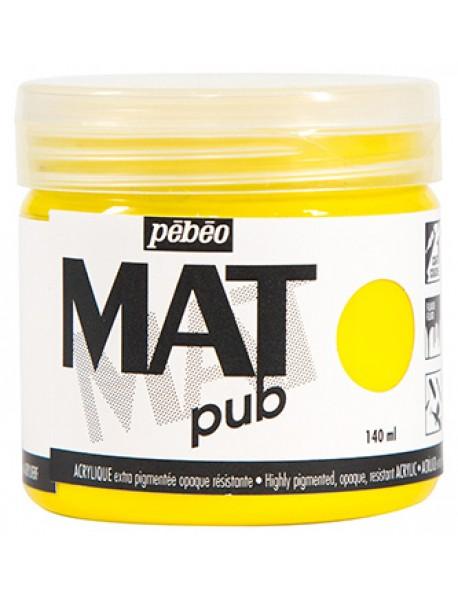 MAT PUB 140ML PRIMARY YELLOW