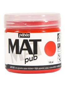 MAT PUB 140ML VERMILLION RED