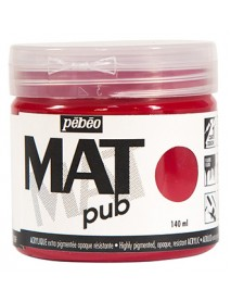 MAT PUB 140ML CARMIN RED