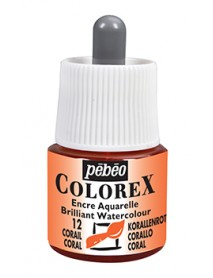 WATERCOLOR INK COLOREX 45ML CORAIL