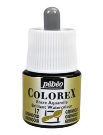 WATERCOLOR INK COLOREX 45ML GREENGOLD