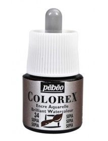 WATERCOLOR INK COLOREX 45ML SEPIA
