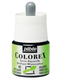 WATERCOLOR INK COLOREX 45ML YELLOW GREEN