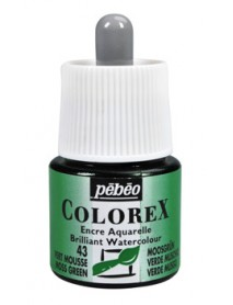 WATERCOLOR INK COLOREX 45ML MOSS GREEN