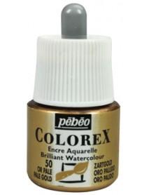 WATERCOLOR INK COLOREX 45ML PALE GOLD