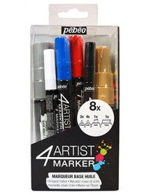 4ARTIST MARKERS SET 8 MARKERS