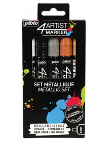 4ARTIST MARKER SET 5X4MM METAL