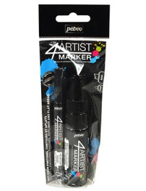 4ARTIST MARKER SET DUO 2MM AND 8MM BLACK