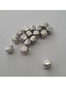 ΧΑΝΤΡΑ 100% ΑΣΗΜΙ (925ο) 5X5MM silver cube