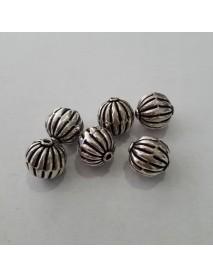 ΧΑΝΤΡΑ 100% ΑΣΗΜΙ (925ο) 9.5MM silver bead antique