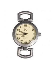 Metal- clockwork 2.6cm oxidized silver