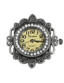Metal- clockwork deco border 3cm oxidized silver