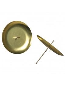ΜΕΤΑΛΛΙΚΕΣ ΒΑΣΕΙΣ ΚΕΡΙΟΥ 4TEM 8 cm, gold