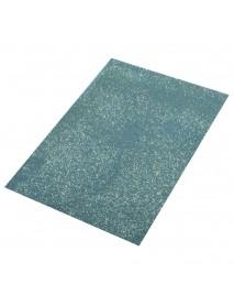 Crepla sheet glitter, light blue, 30x45x0.2cm