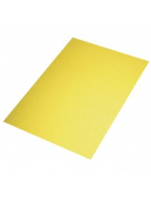Crepla sheet glitter, yellow, 30x45x0.2cm