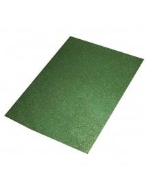 Crepla sheet glitter, green, 30x45x0.2cm
