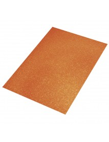 Crepla sheet glitter, orange, 30x45x0.2cm