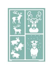 STENCIL ΕΠΑΝΑΤΟΠΟΘΕΤΗΣΗΣ A5 'Rudolph'