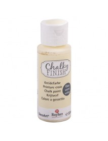 Chalky Finish for glass, alabaster white, bottle 59ml