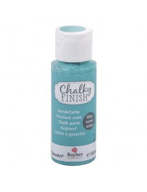 Chalky Finish for glass, Indian turquoise, bottle 59ml