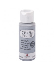 Chalky Finish for glass, rock-grey, bottle 59ml